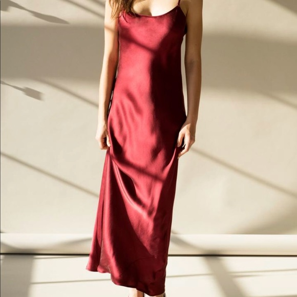 ca151585823 lily ashwell Dresses   Skirts - Lily Ashwell Gia Slip Dress- Red Silk size S